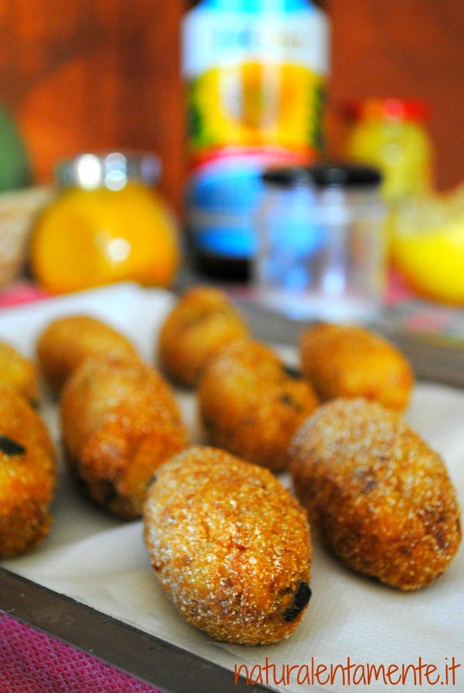 crocchette d'orzo e patate