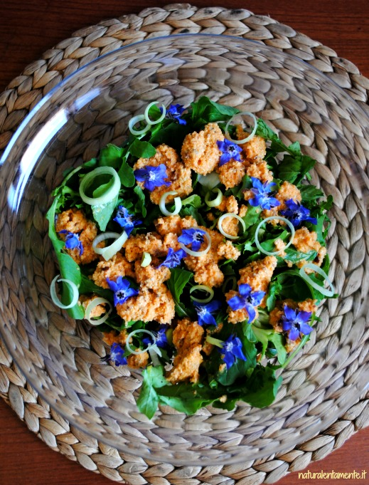 insalata fiori di borragine