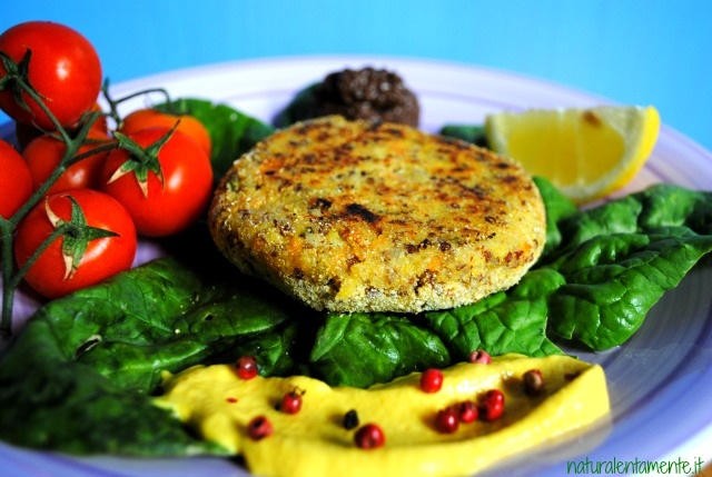 vegan burger senza glutine