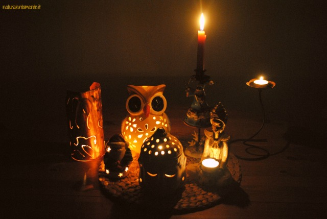 lento natale- lume di candela