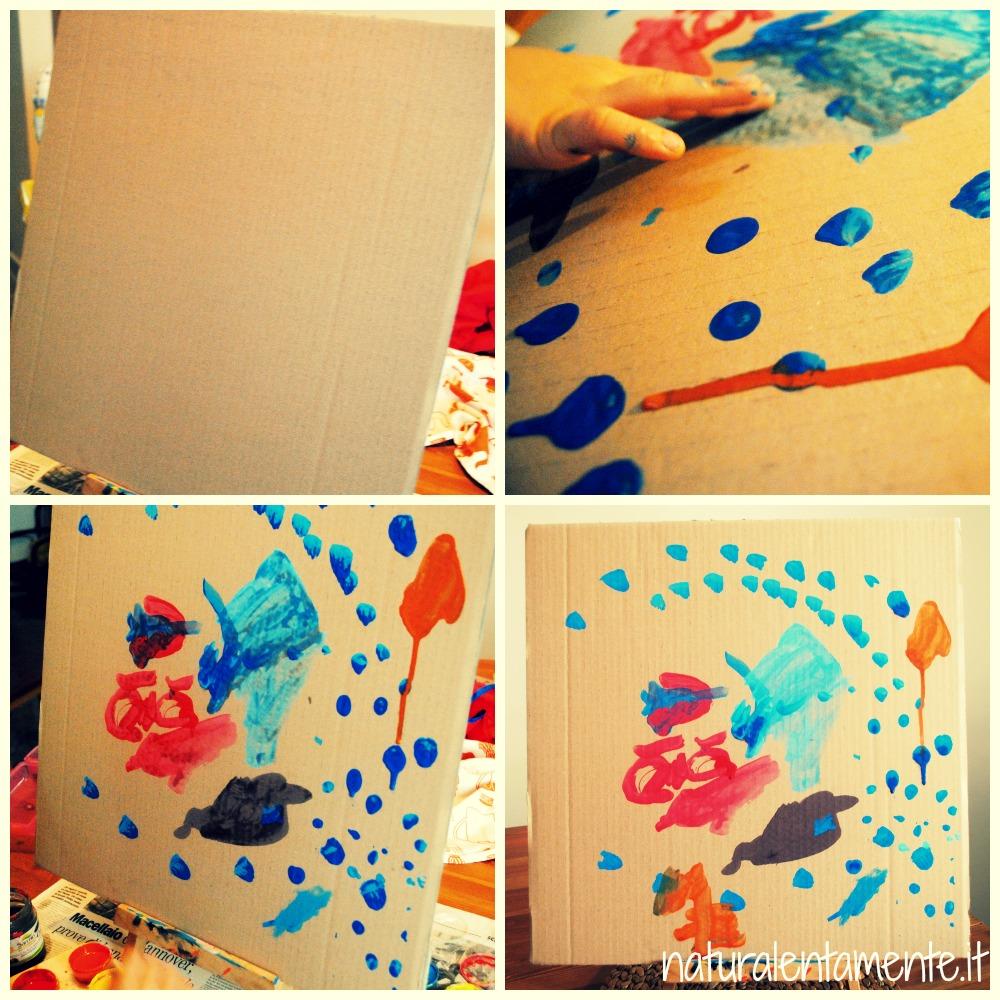 pittura su cartone