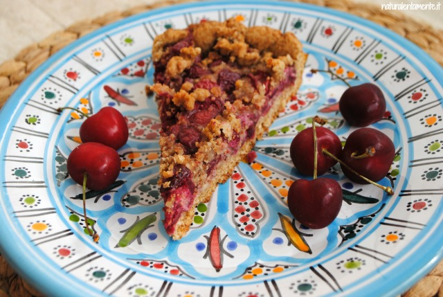 crostata di farro alle ciliegie-giornata del parto a casa
