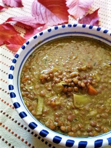 zuppa di lenticchie e broccoli 2