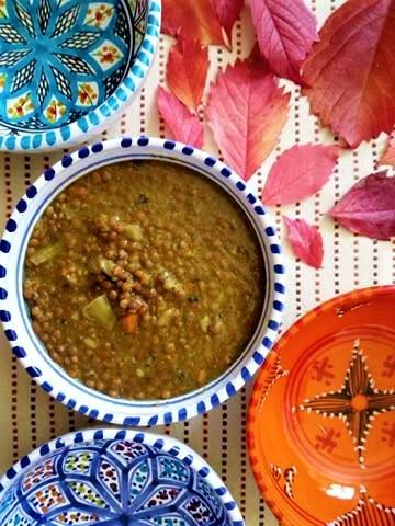 zuppa di lenticchie e broccoli